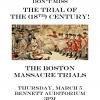 250th Anniversary Boston Massacre Trials Reenactment