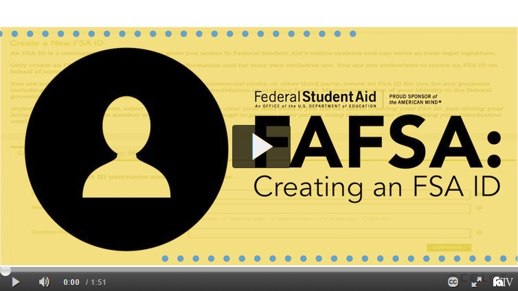 FAFSA: Creating FSA ID