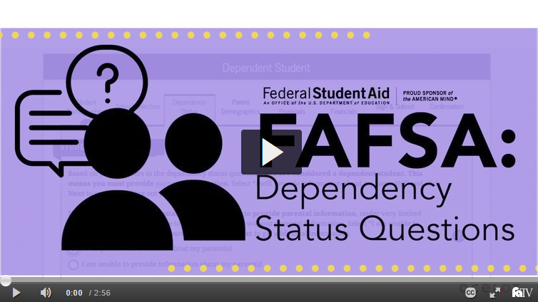 FAFSA: Dependency Status Questions