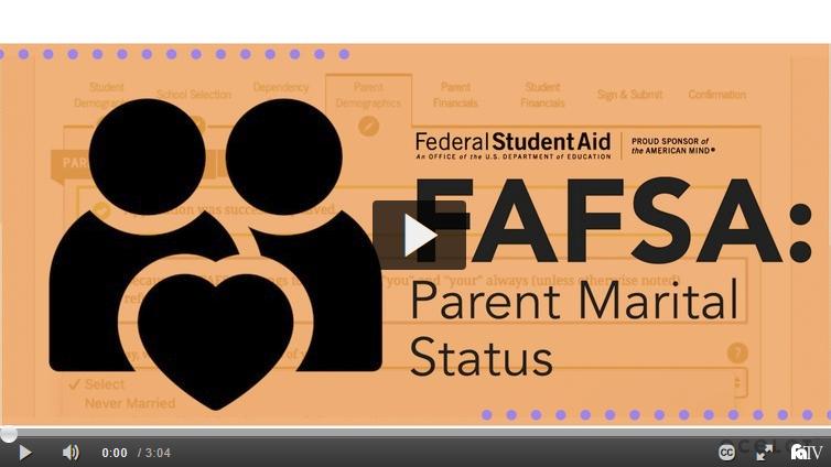 FAFSA: Parent Marital Status