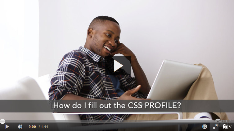 How do I fill out the CSS PROFILE?