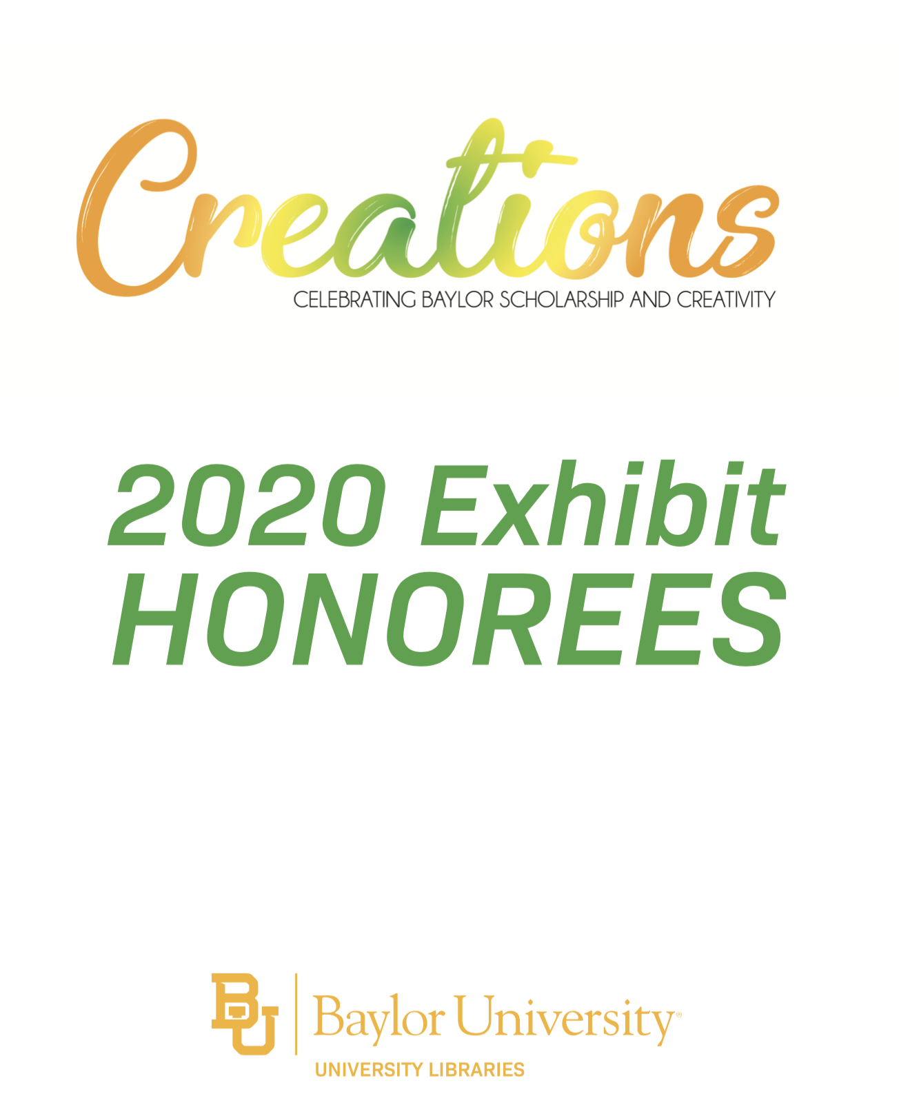 Creations 2020 Exhibit Honorees