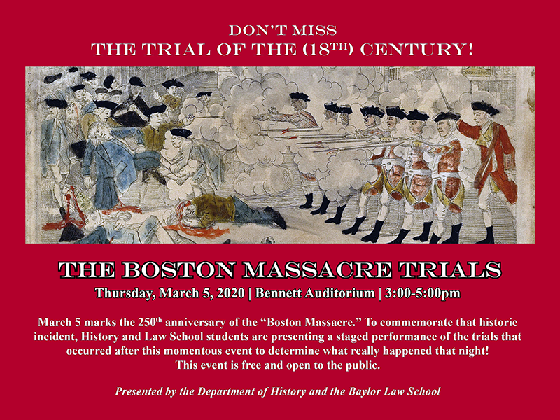 Boston Massacre Trials - 250th Anniversary