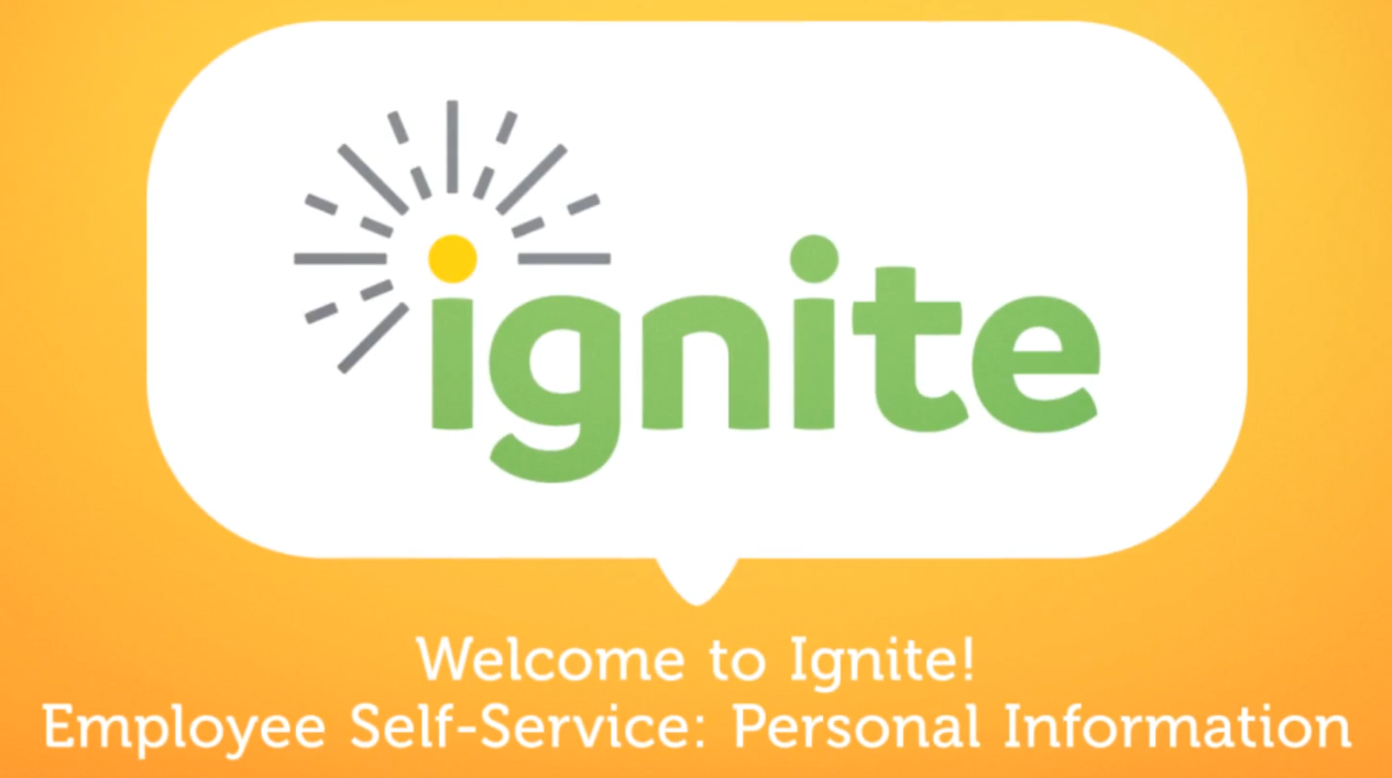 Employee Self-Service: Updating Personal Information Video