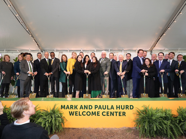 Mark & Paula Hurd Welcome Center Groundbreaking