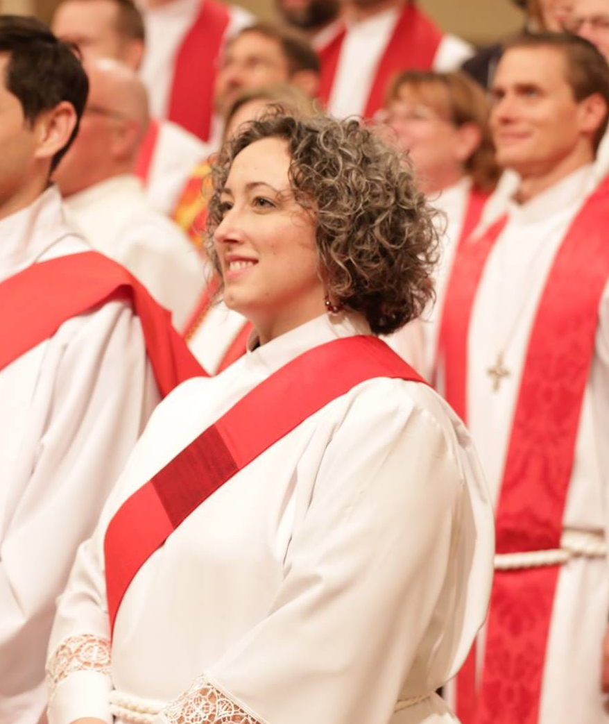 Emily during her ordination to the deaconate