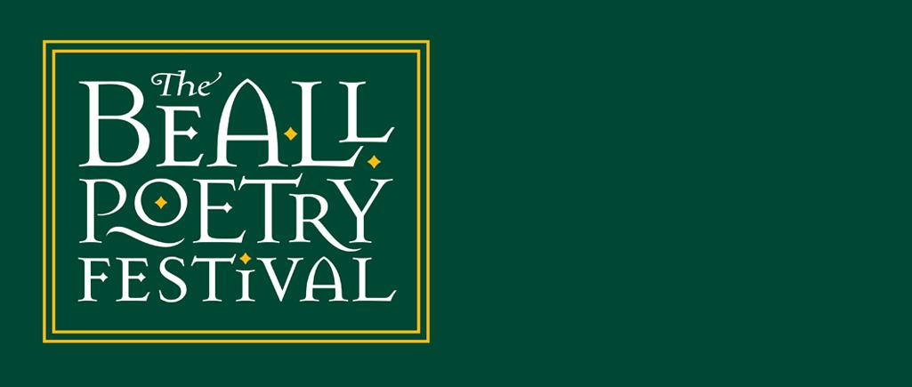 Beall Poetry Festival Logo on Green Background