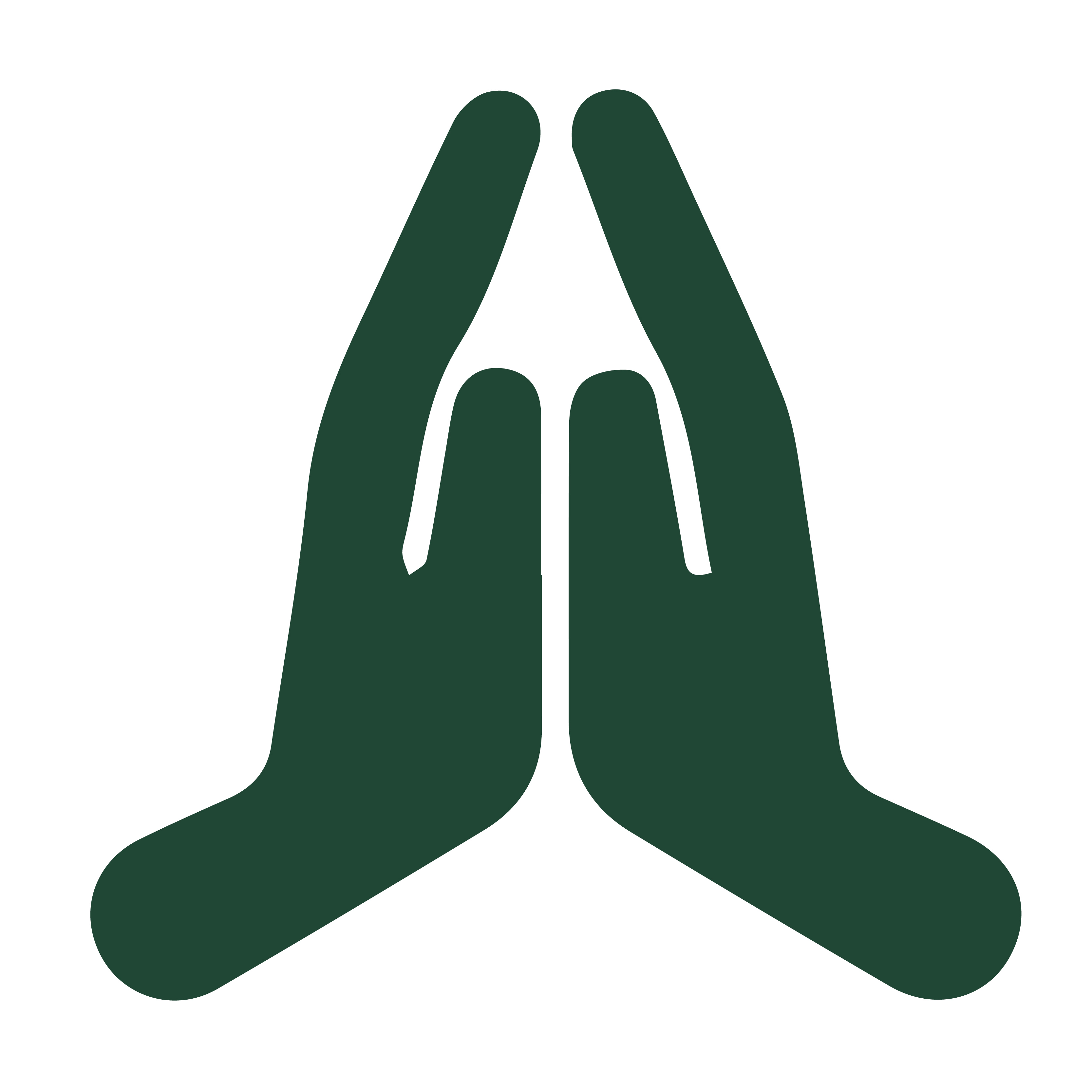 hands clasped in prayer graphic
