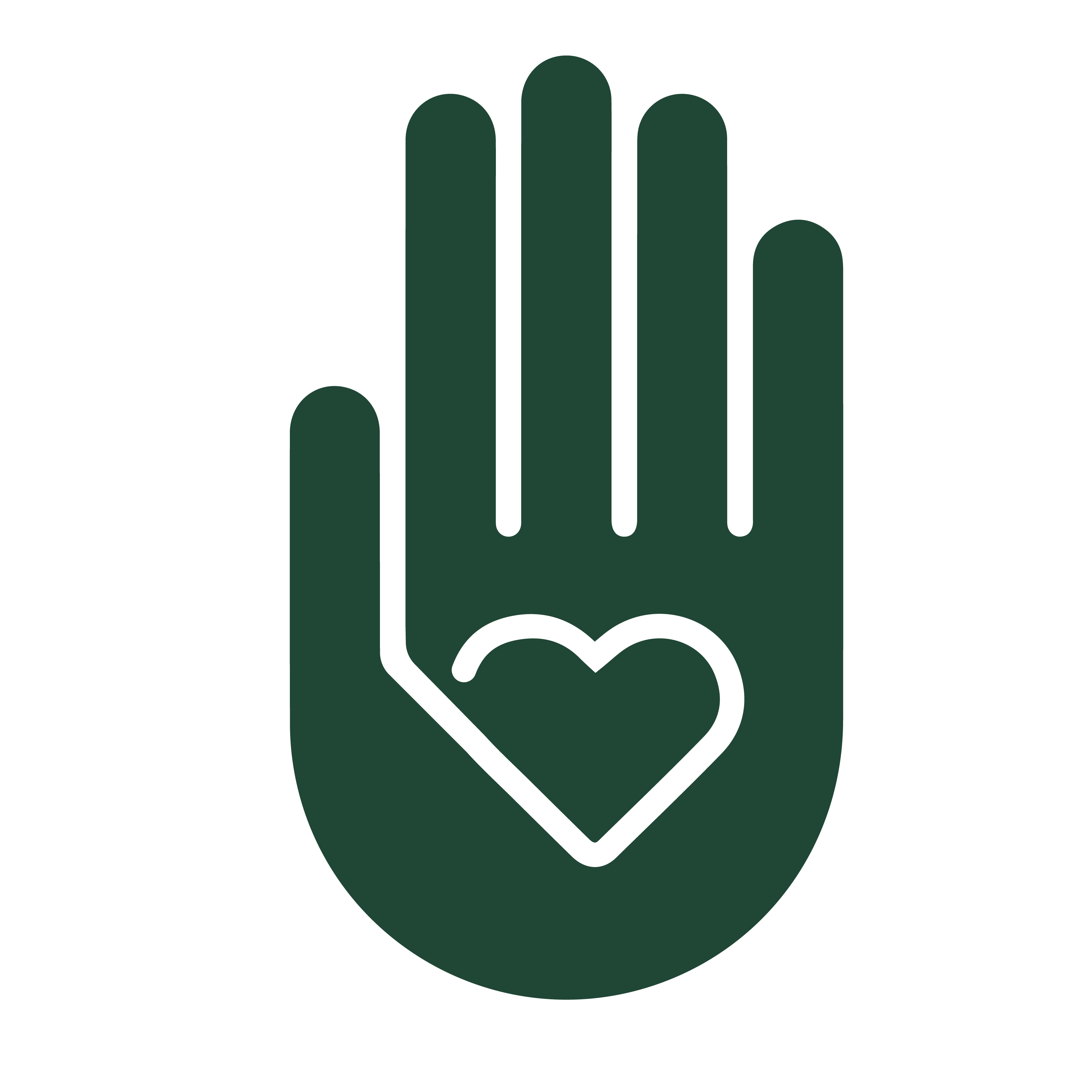 Heart in Palm graphic
