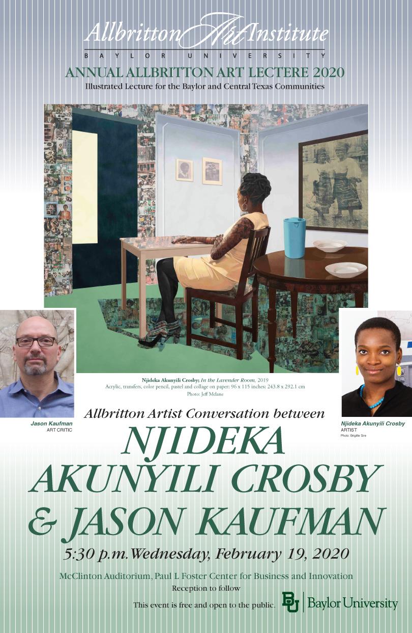 Njideka Akunyili Crosby poster Spring 2020