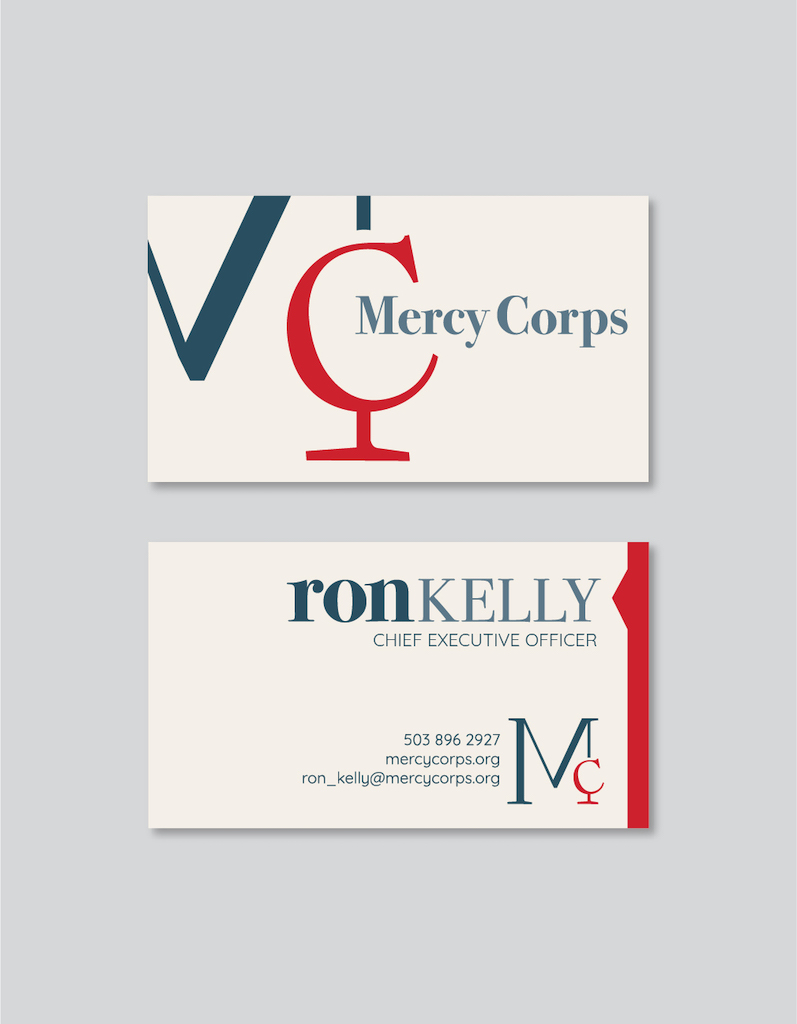 Mercy Corps Brand Redesign (Detail), Jenna Howard
