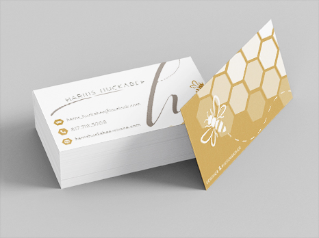Personal Stationery Business Cards (Detail), Harris Huckabee