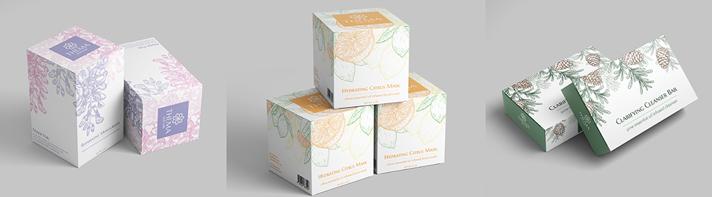 Thema Skin Care Company Package Design (Details), Harris Huckabee