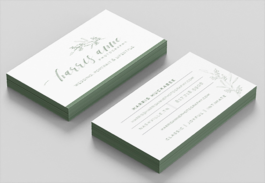 Harris Anne Photography Business Cards (Detail), Harris Huckabee