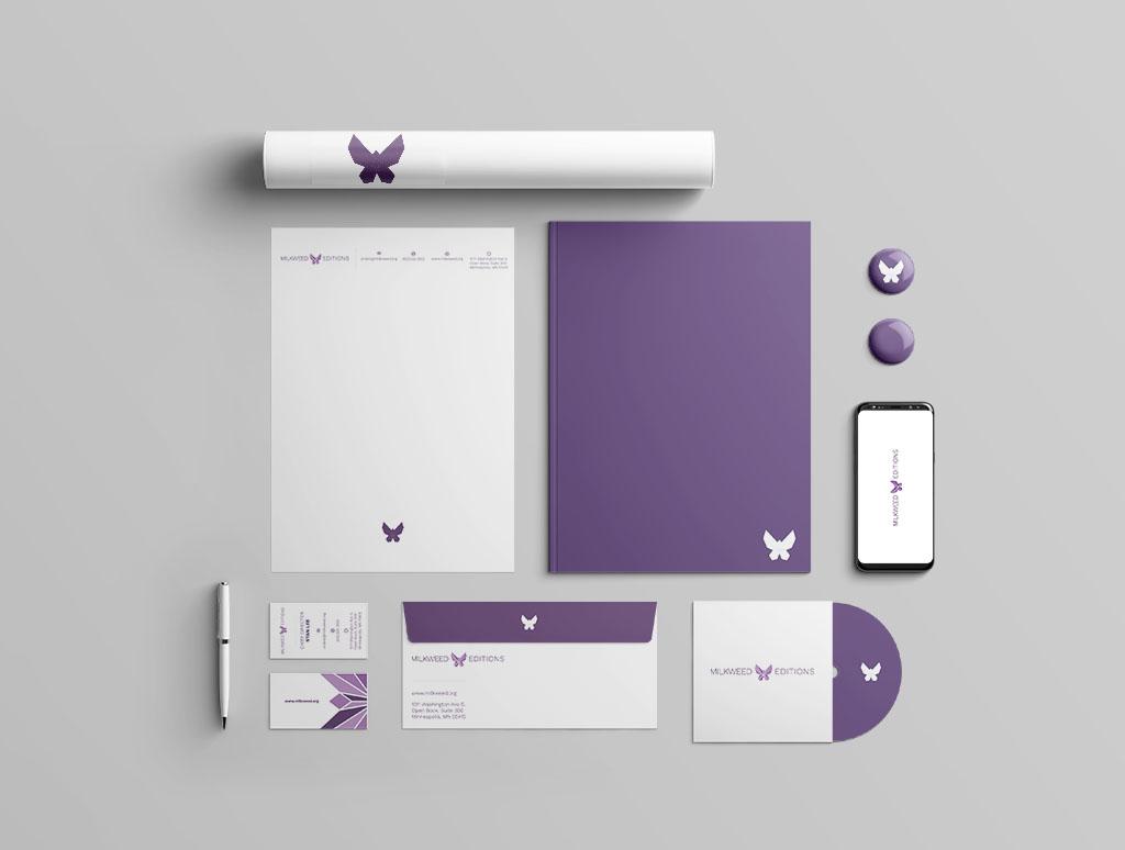 Milkweed Brand Identity, Yixiu Li