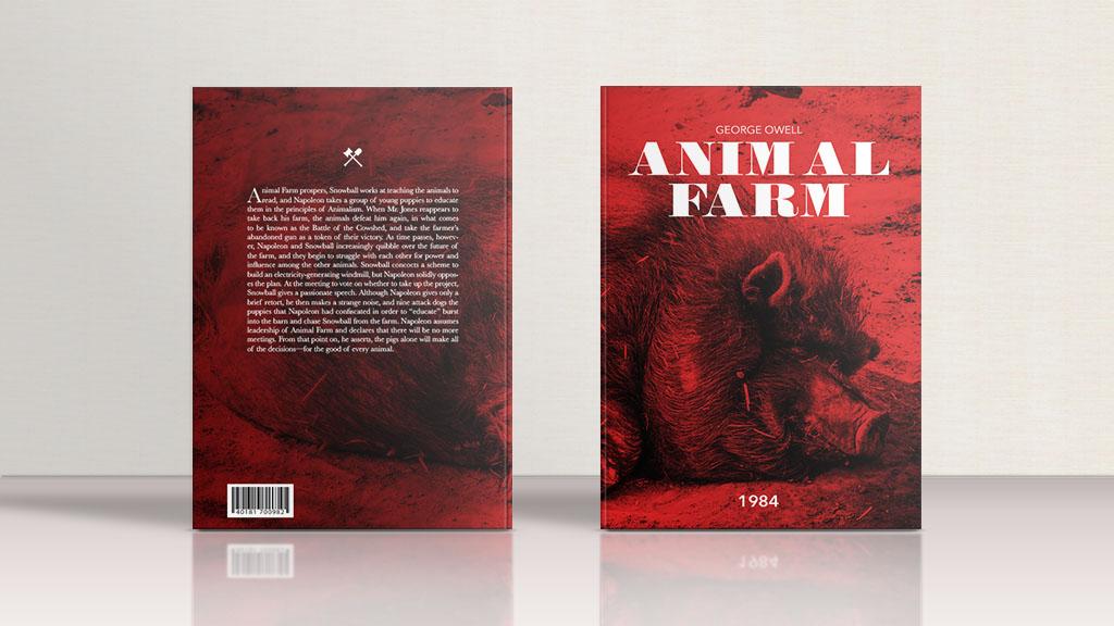 Animal Farm Book Cover Design, Yixiu Li