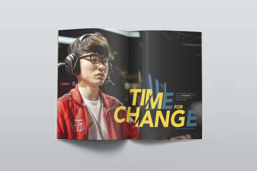 Time for Change Magazine Spread, Yixiu Li