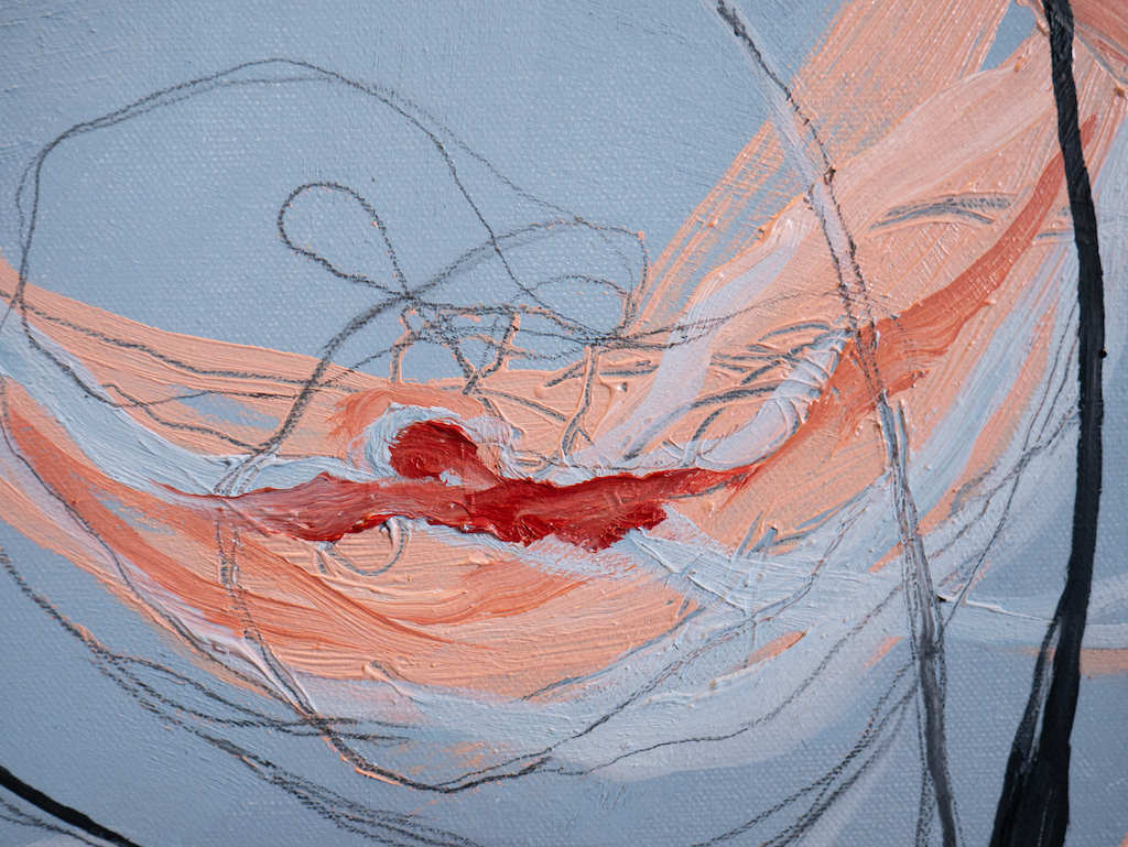 Lo! Love to Those Who Love (Detail 2), Allison Overpeck, Oil and graphite on canvas