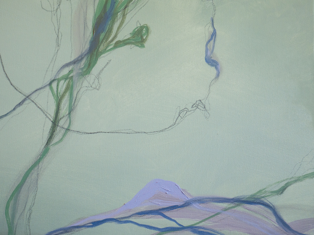 Did Margaret Love Amethyst? (Detail 2), Allison Overpeck, Oil and graphite on canvas
