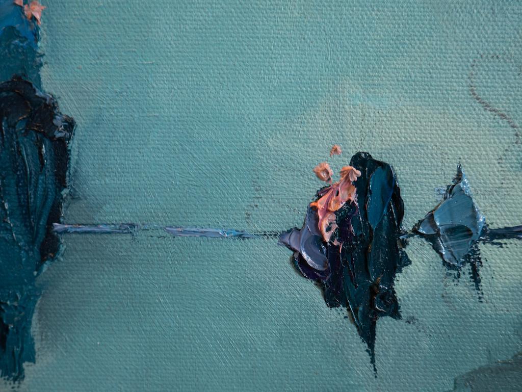 External vs Internal (Detail), Madison Rose, Oil on canvas