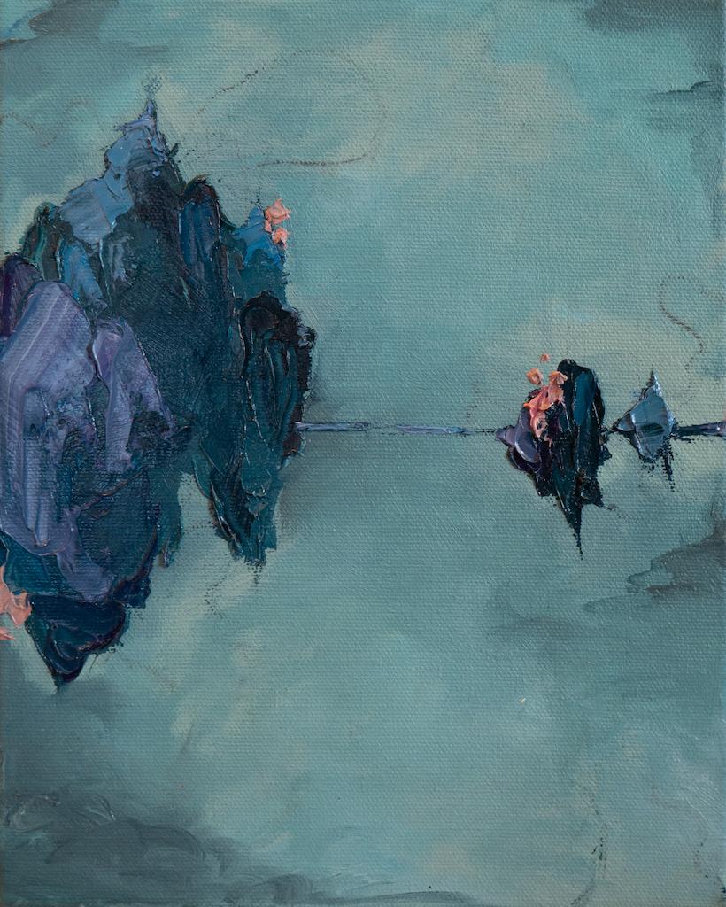 External vs Internal, Madison Rose, Oil on canvas, 10 x 8