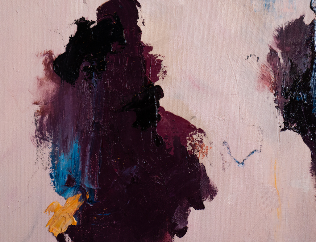 Louder Voices (Detail 1), Madison Rose, Oil on canvas