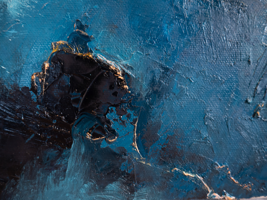 Overanalyzing (Detail 2), Madison Rose, Oil on canvas