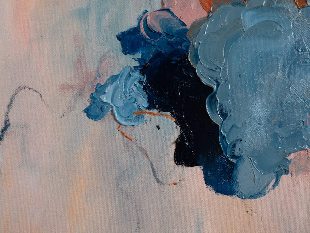 Reassurance (Detail 1), Madison Rose, Oil on canvas