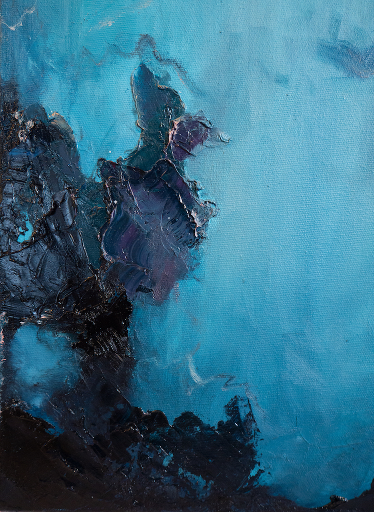 Setting Boundaries (and Keeping Them) (Detail 2), Madison Rose, Oil on canvas
