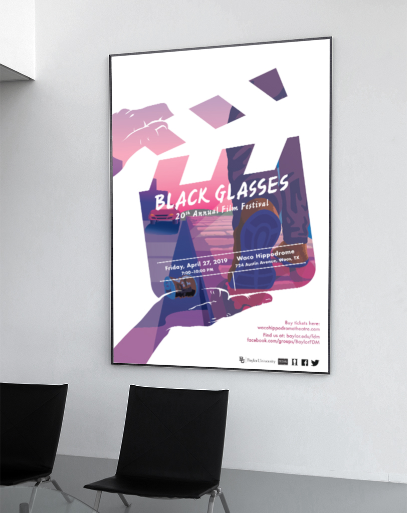 Black Glasses Poster, Brianna Wimberly