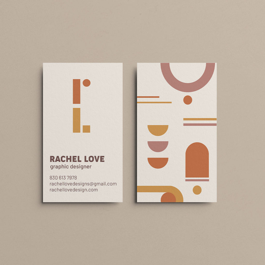 Personal Stationary- Business Cards, Rachel Love