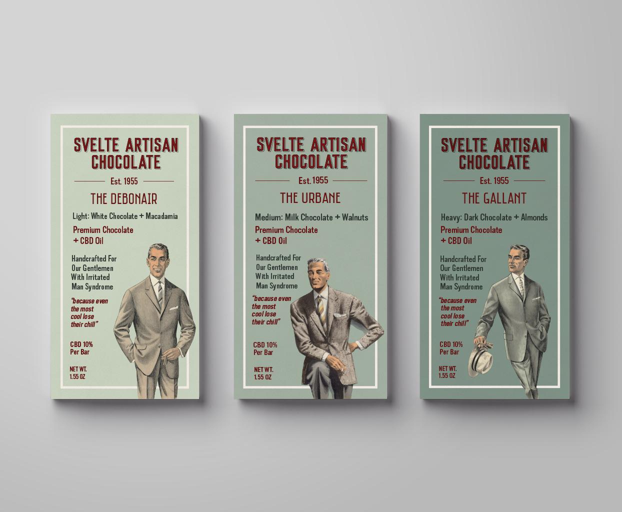 Svelte Artisan Chocolate Package Design , Rachel Love
