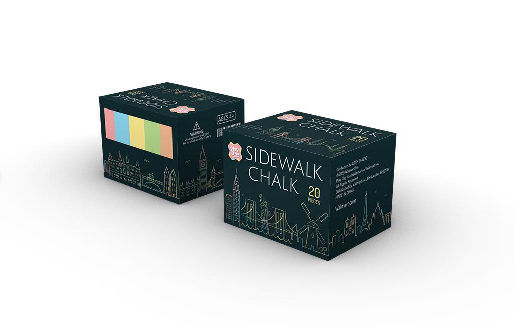 Chalk Box Package Design, Zitian Zhou