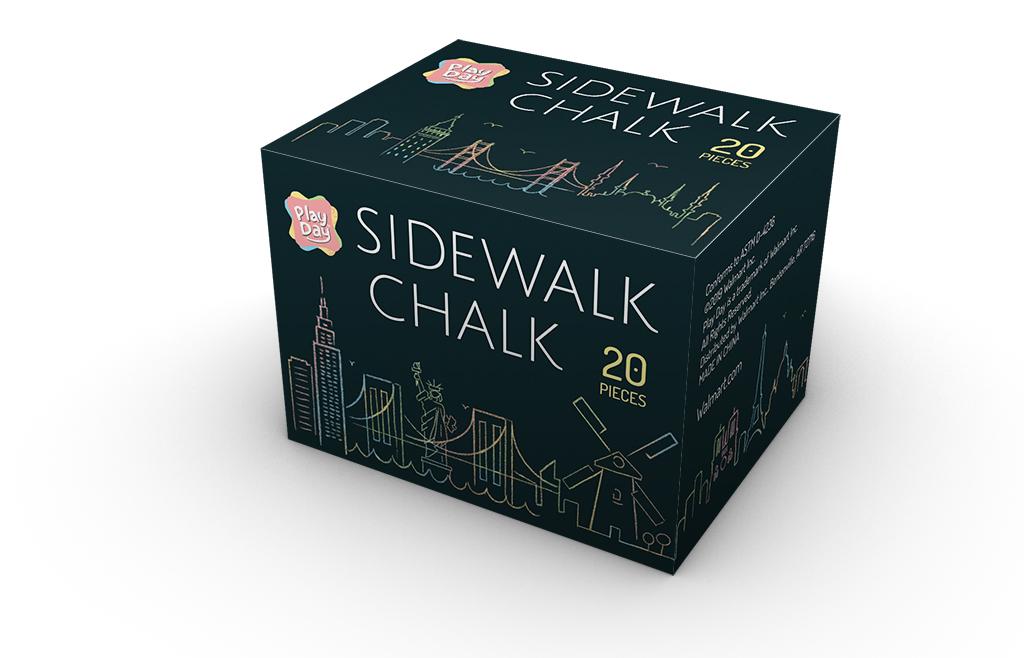 Chalk Box Package Design (Detail 1), Zitian Zhou