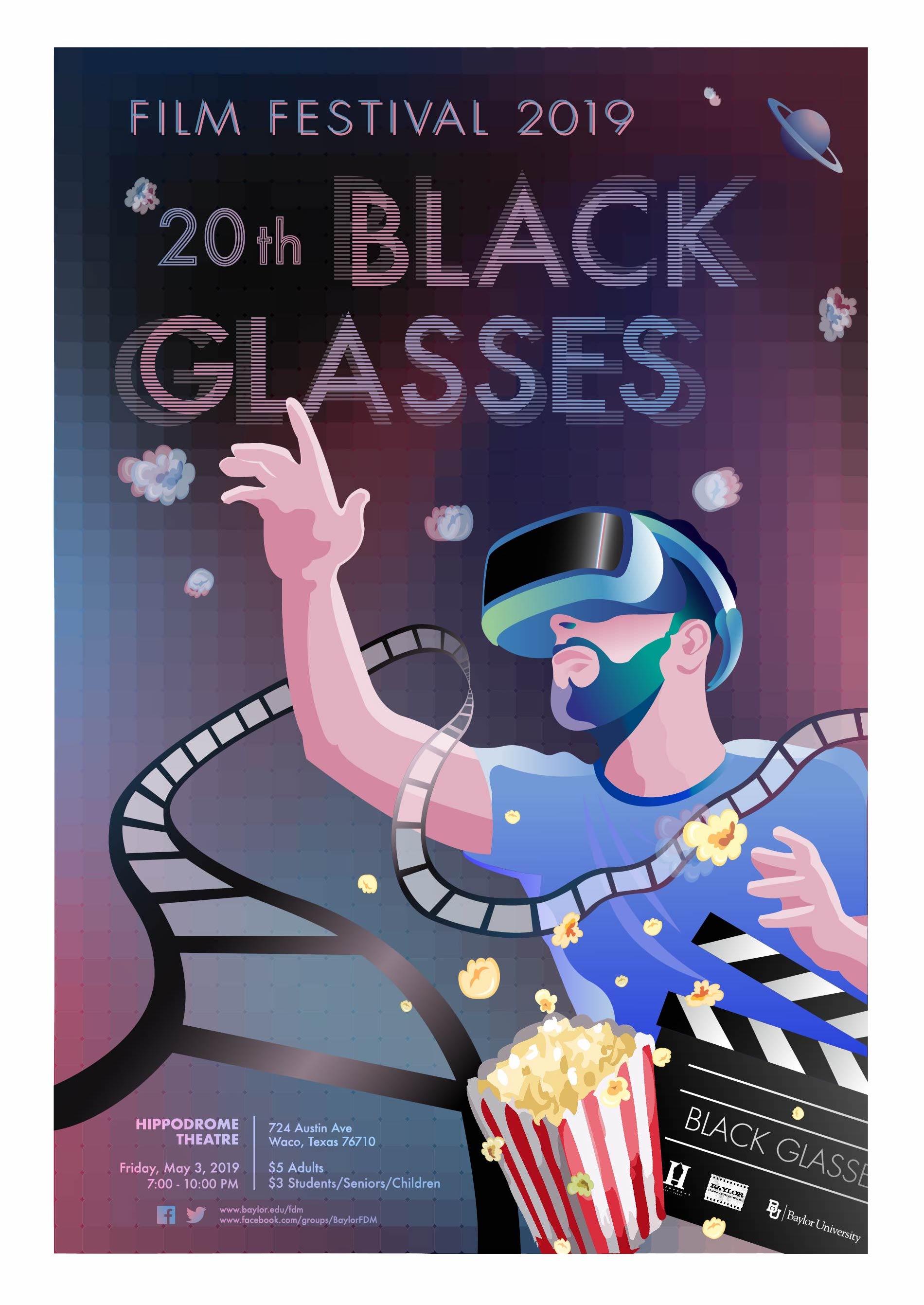 Black Glasses Poster, Zitian Zhou