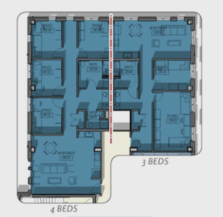 Room Types Teal Residential College Baylor University
