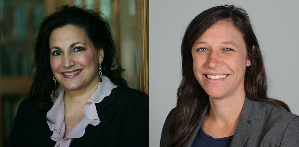 Mona Choucair (L) and Anne Jeffrey (R)