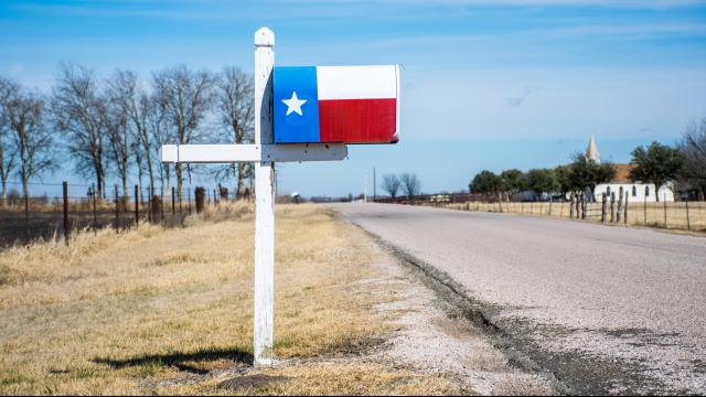 Rural Texas mailbox