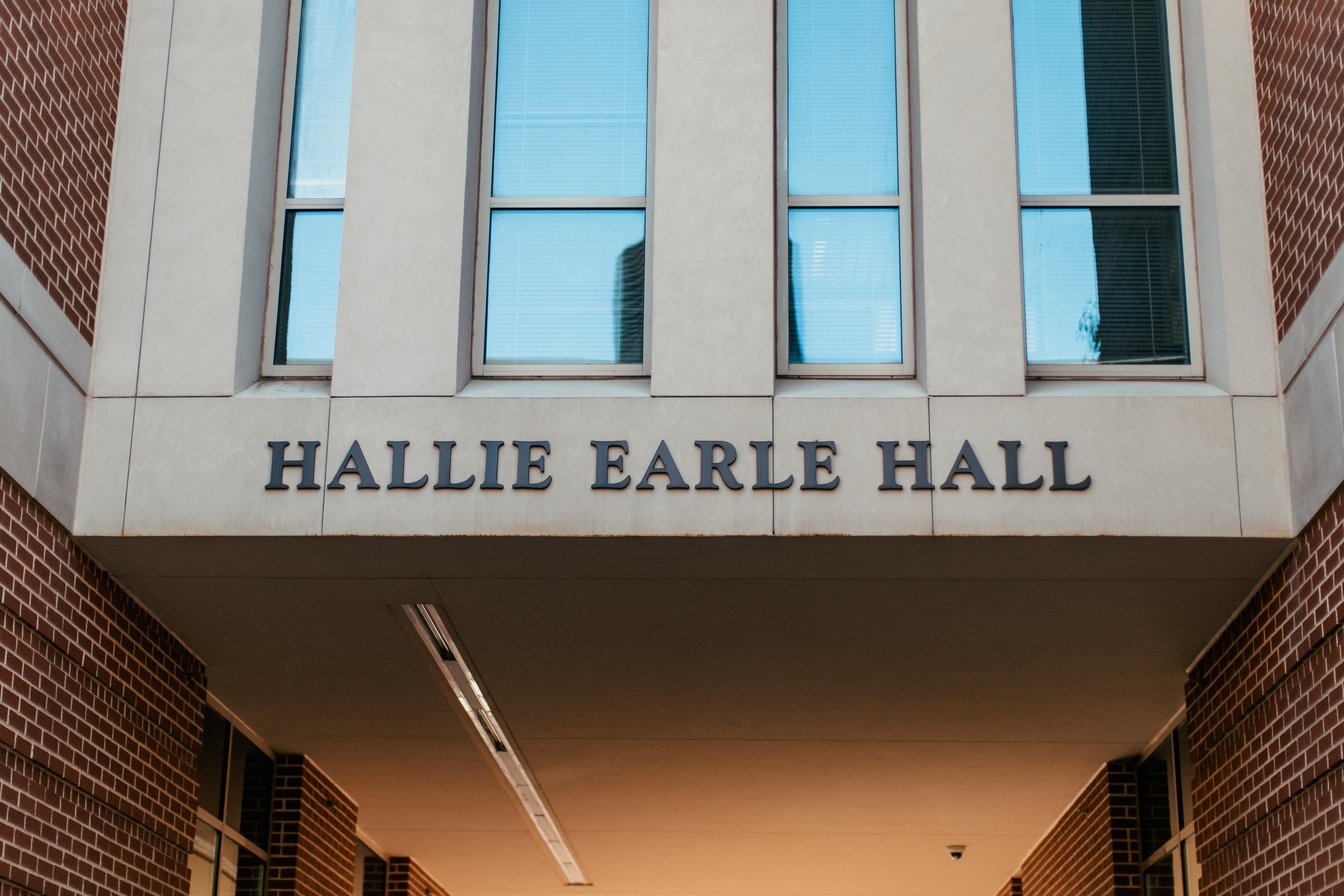 Hallie Earle Hall Sign