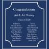 Congratulations to Our 2020 Art & Art History Graduates!