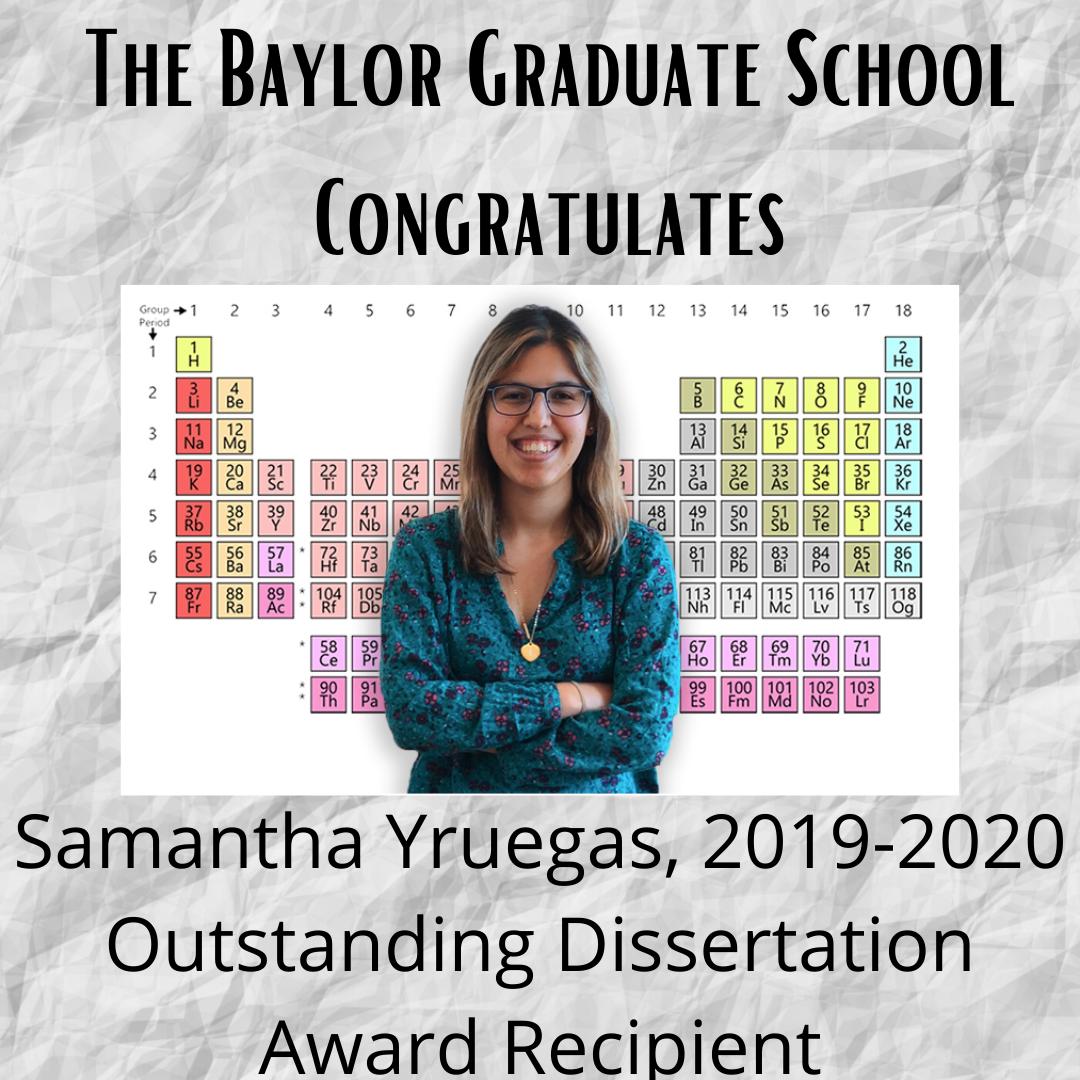 Outstanding Dissertation Yruegas