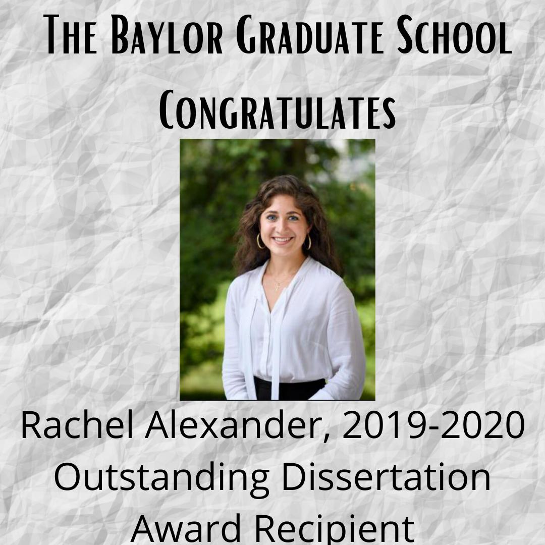 Outstanding Dissertation Alexander
