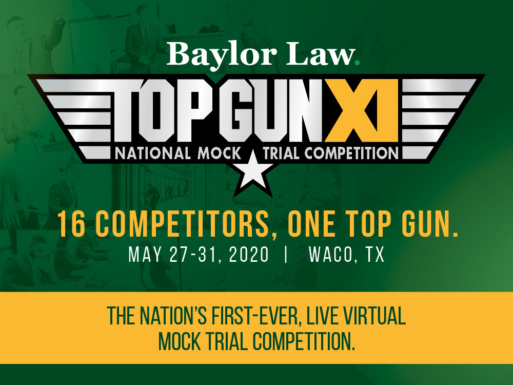 2020 Top Gun National Mock Trial Competition is the Nation's First-Ever Live, Virtual Mock Trial Competition