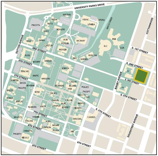 East Campus Garage Map