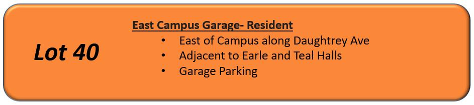 East Campus Garage Button