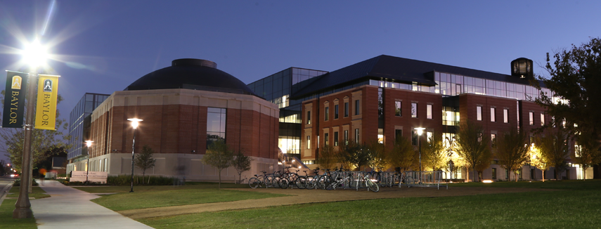 Paul L. Foster Campus for Business and Innovation at night