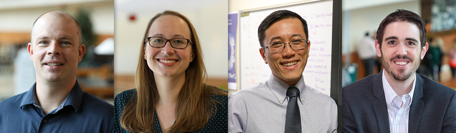 2020 NSF CAREER Grant Winners - Kenny Befus, Alyssia Gallagher, Stanley Ling and Michael Scullin