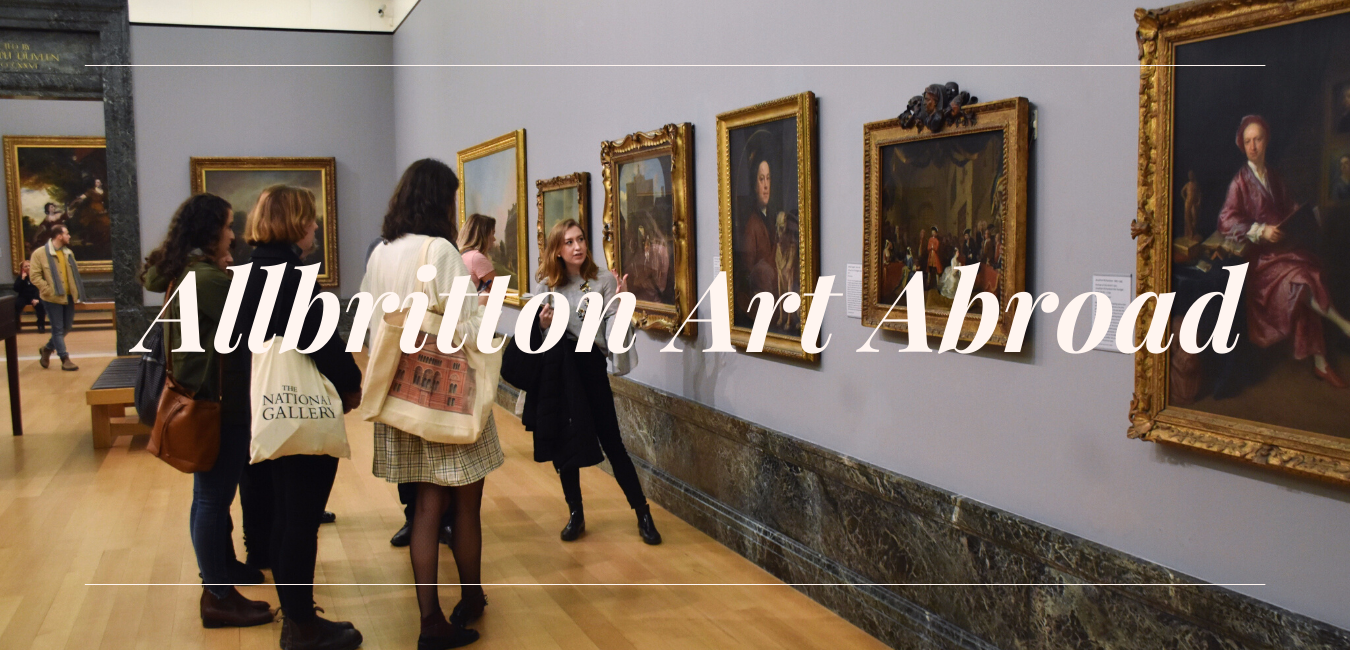 Allbritton Students touring a museum abroad