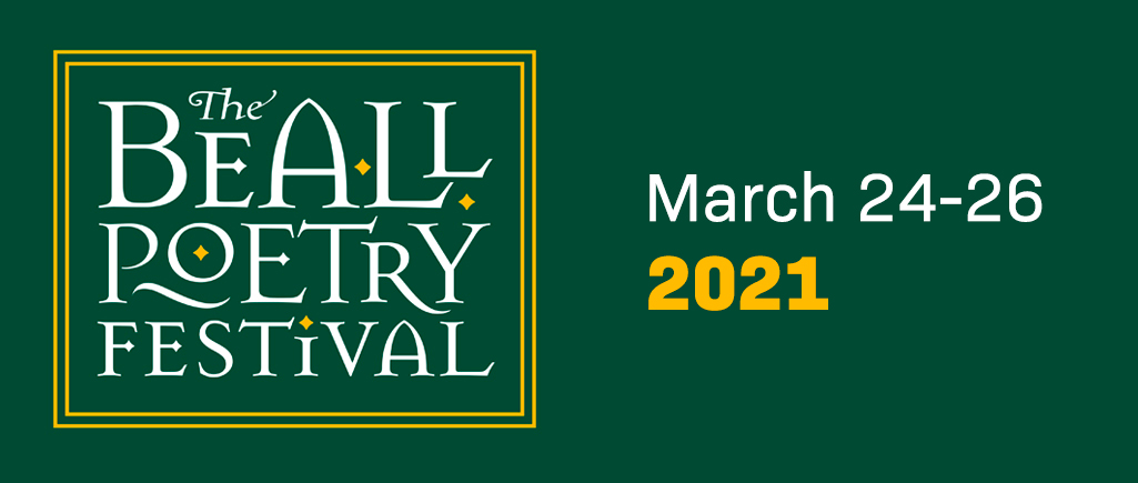 Beall Poetry Festival Logo on Green Background