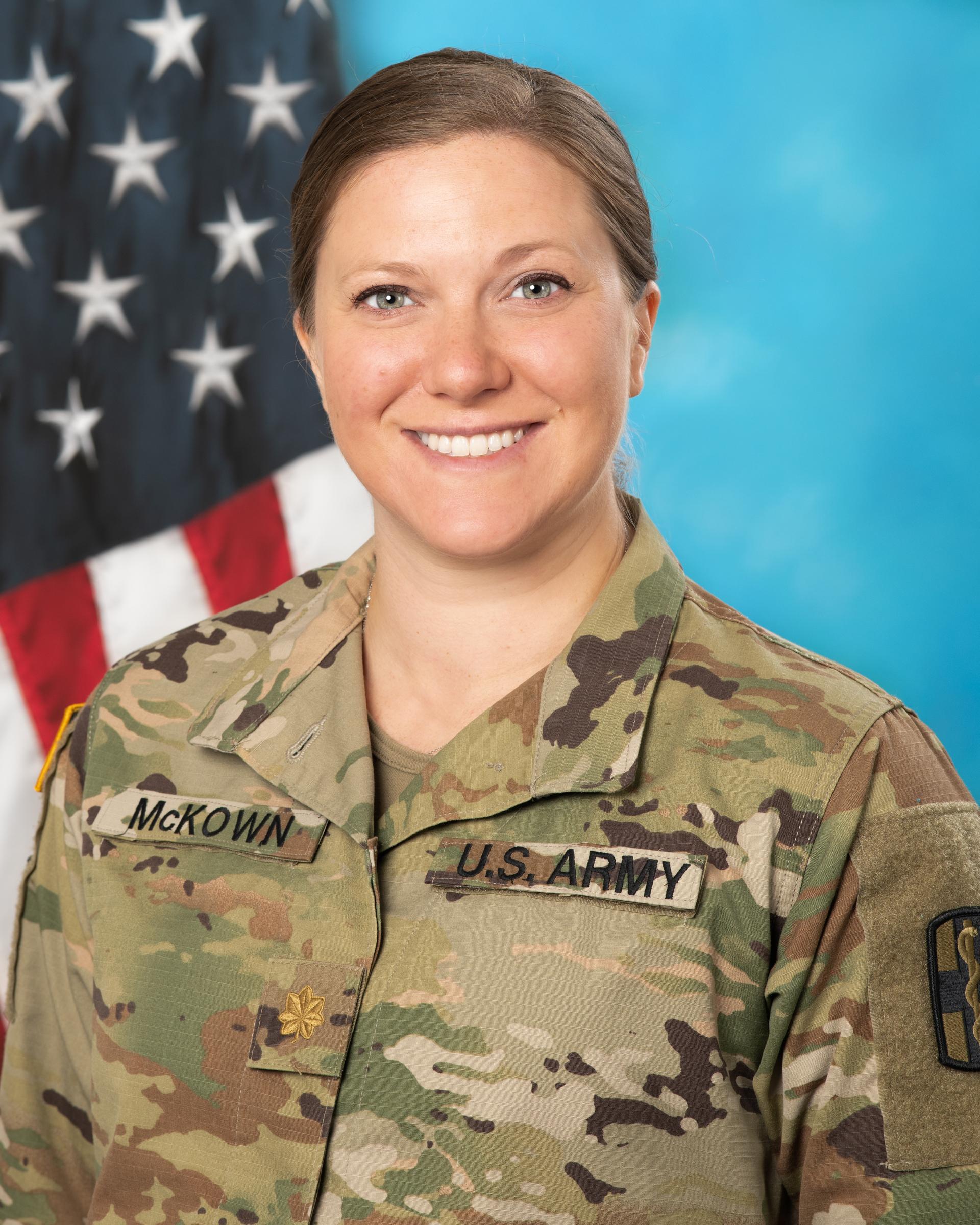 MAJ Ellen McKown, DNP, CRNA, Phase 2 Clinical Site Director: Eisenhower Army Medical Center